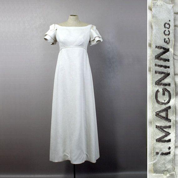 Vintage Wedding Dresses Boston: Vintage 1960s Wedding Dress
