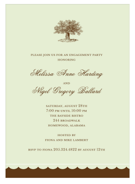 Under the Oak Tree Engagement Party, Bridal Shower or Rehearsal Dinner Invitation by Stacy Claire Boyd   Paper & Pearl