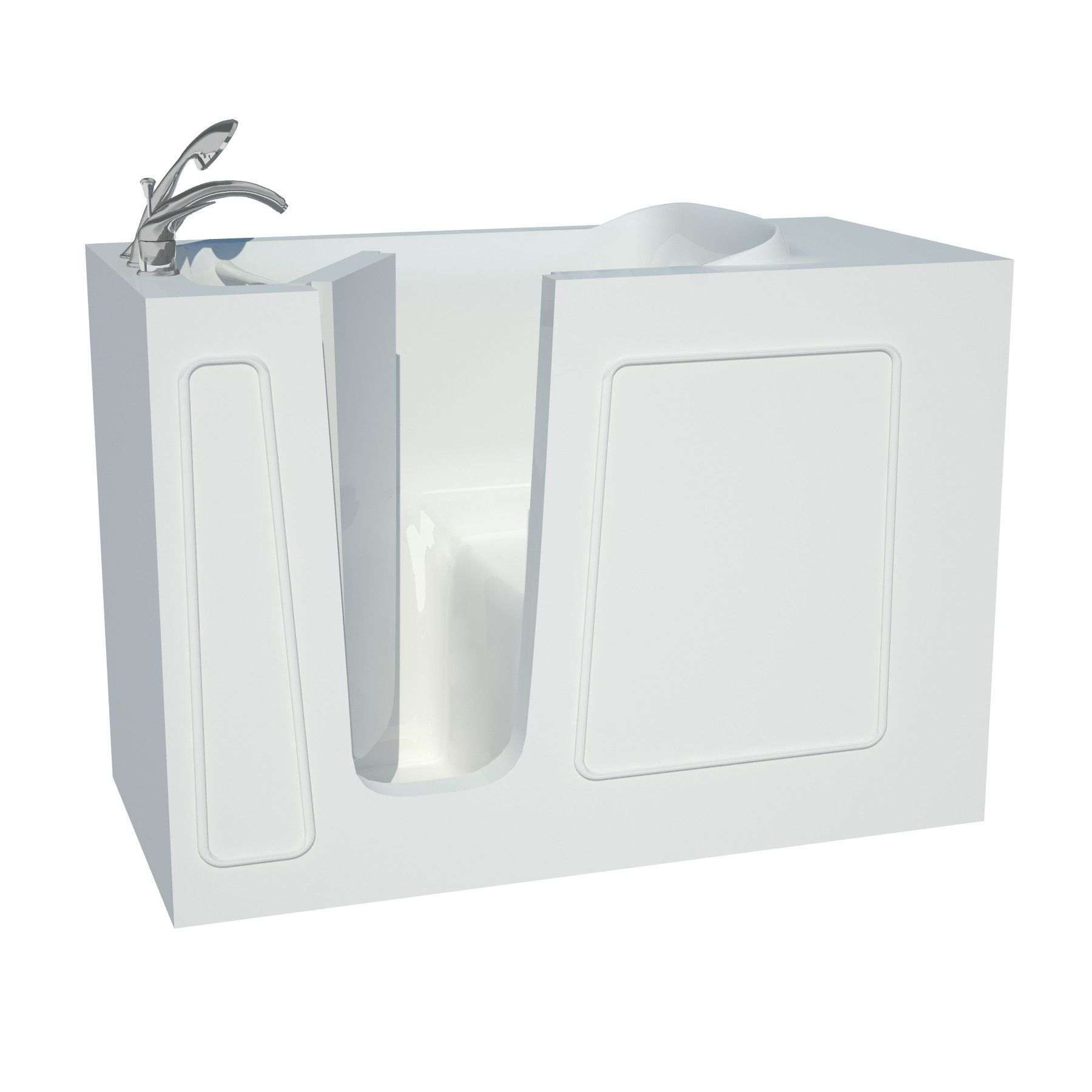 Venzi Vzb2653lws Artisan Series 26x53 White Soaker Walk In Tub