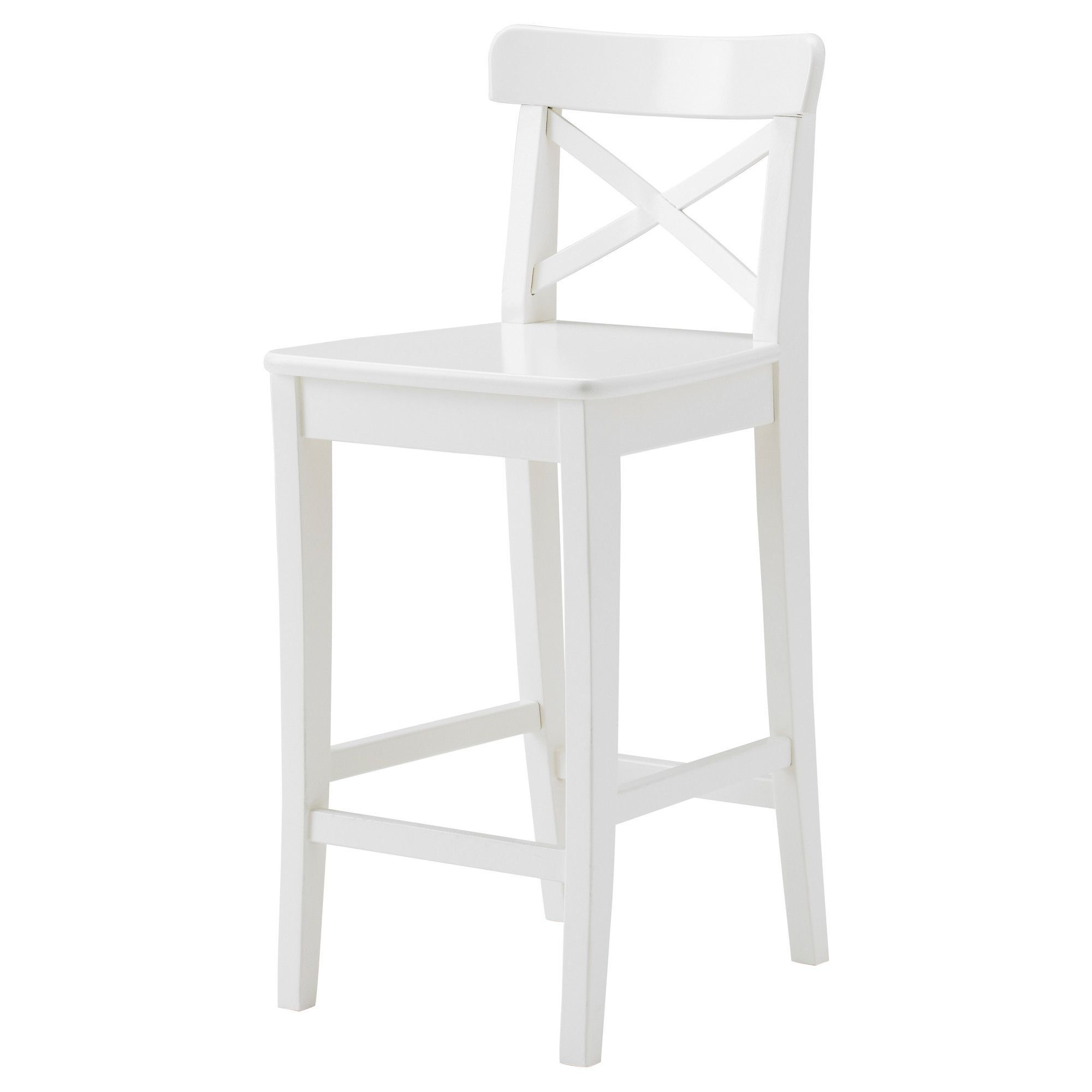 ingolf tabouret de bar dossier blanc tabourets de bar tabouret et ikea. Black Bedroom Furniture Sets. Home Design Ideas