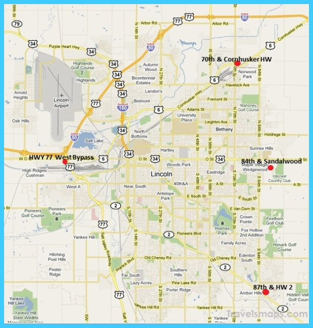nice Map of Lincoln Nebraska | Lincoln nebraska, Nebraska ...