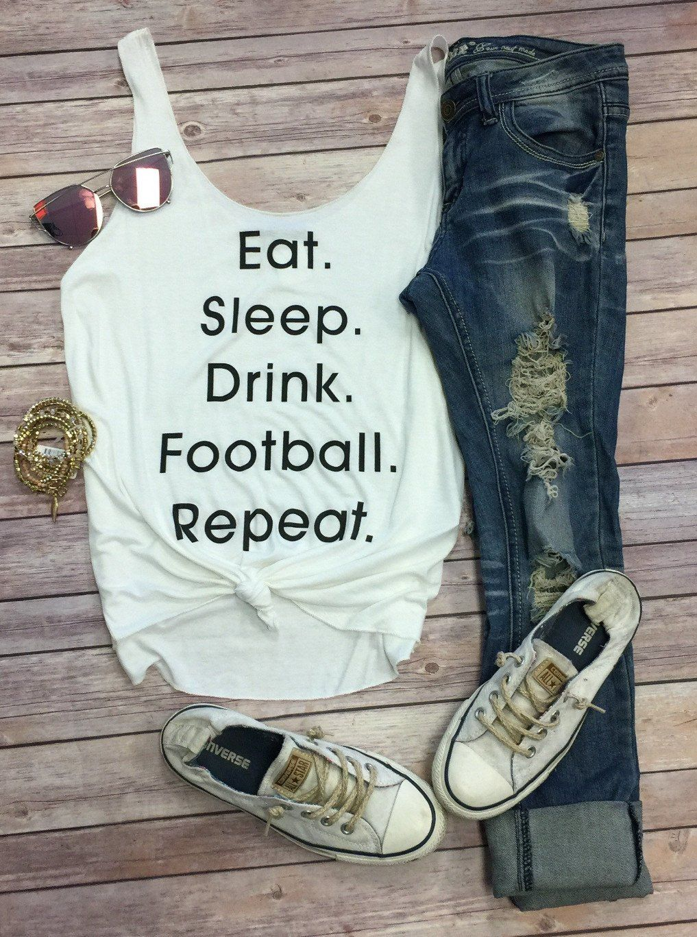 Eat. Sleep. Football. Repeat. from privityboutique