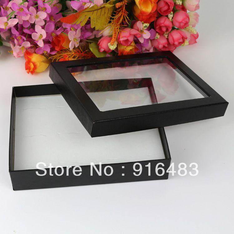 Free Shipping,Wholesale 4pcs/lot Jewelry Rings Earring Display ShowCase Organizer Tray Box 12 Slots Bar-3 $6.00