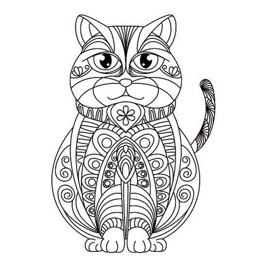 Mandalas de Gatos para Imprimir PDF   Zentangle   Mandalas de
