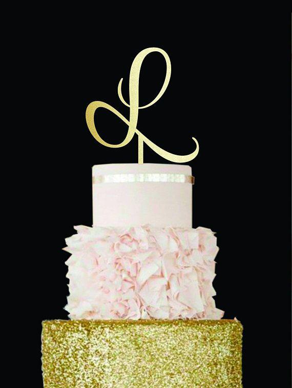 Geometric Wedding Cake Topper Z Custom Wedding Cake Topper