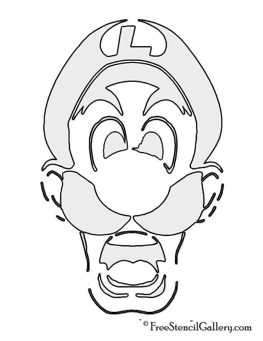 Luigi's Mansion Stencil | 스텐실 | Pinterest | Mario pumpkin and ...