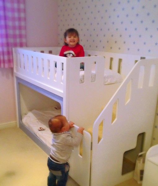 Bunk Bed With Carpeted Stairs Storage And Stairgate Kayelee