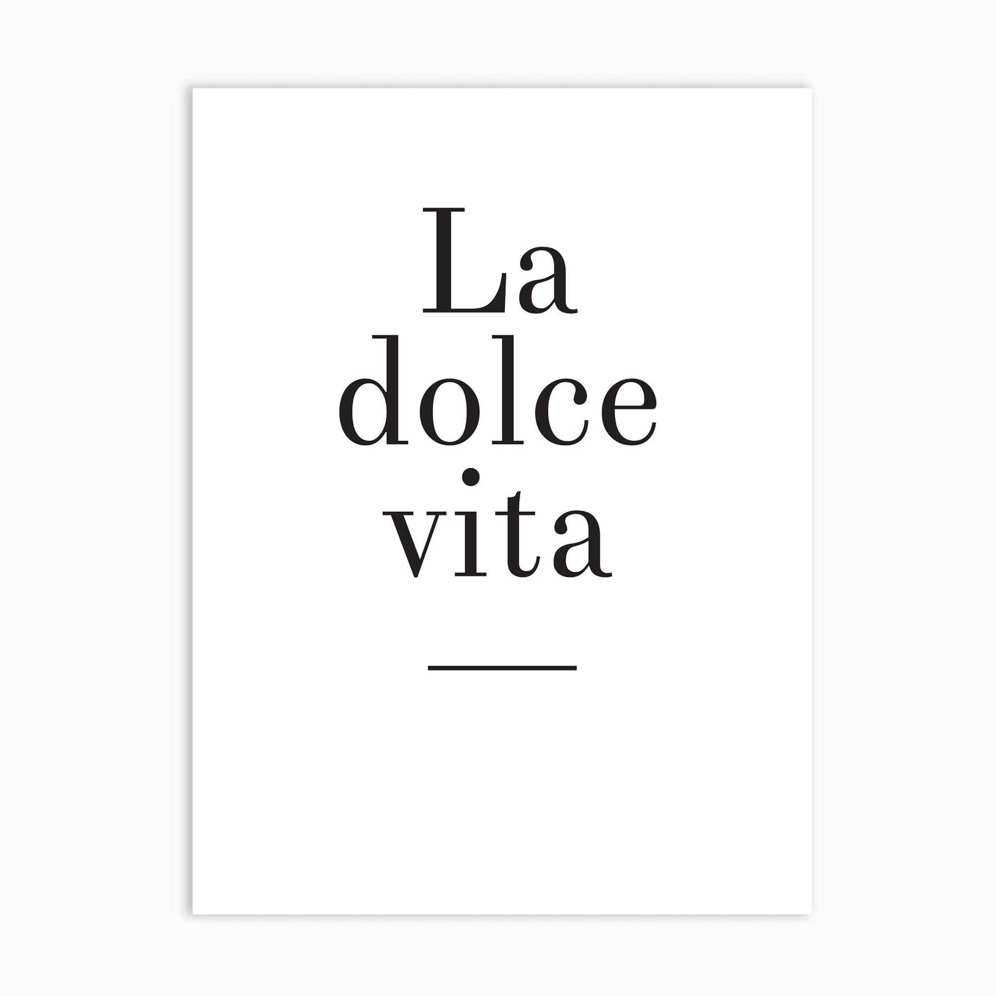 La Dolce Vita Art Print - 12×16 inches