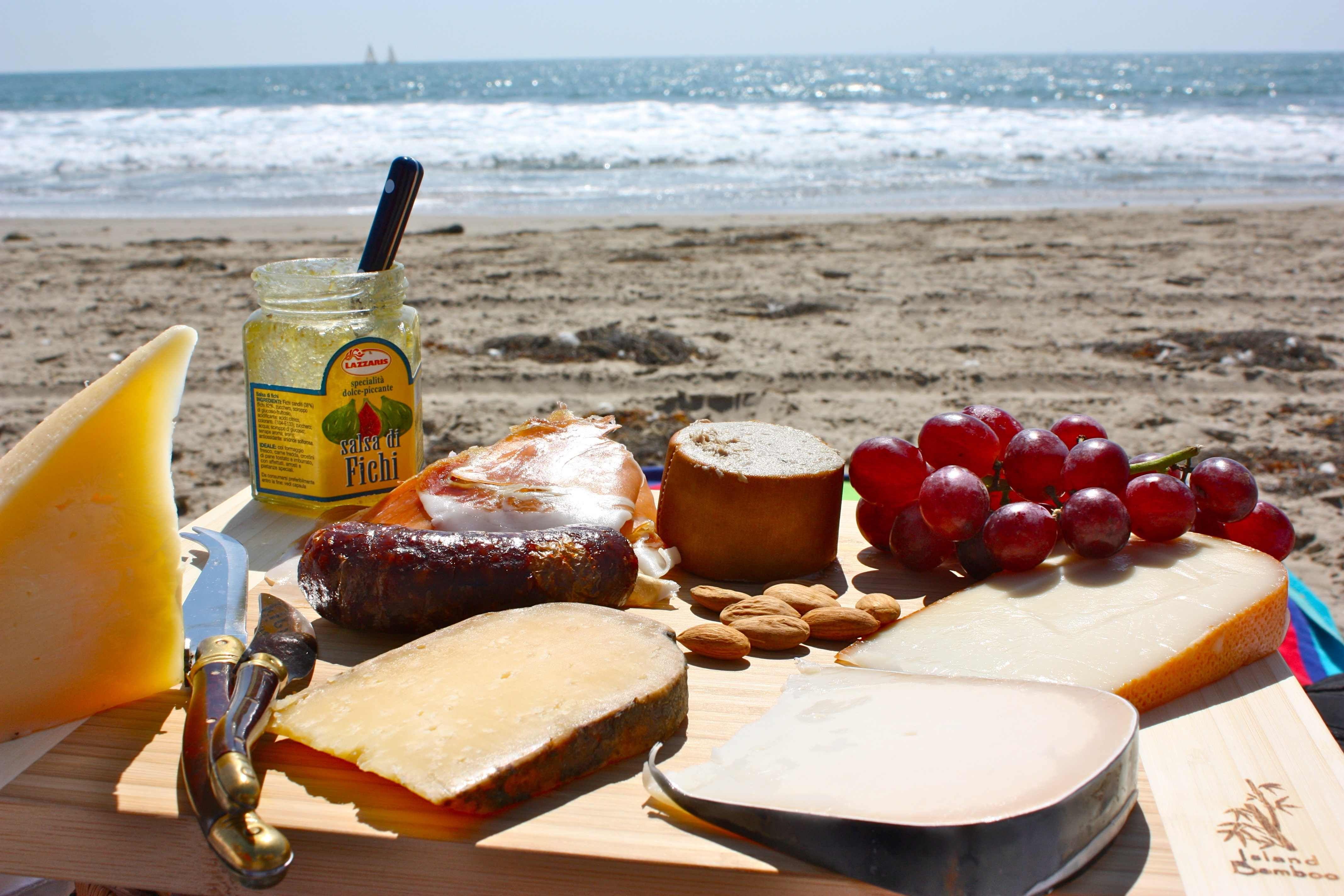 Picnic Beach Oranges And Avocados