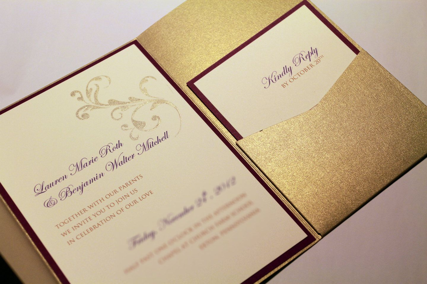 17 Best images about Invitations – Pocket Invitation Cards