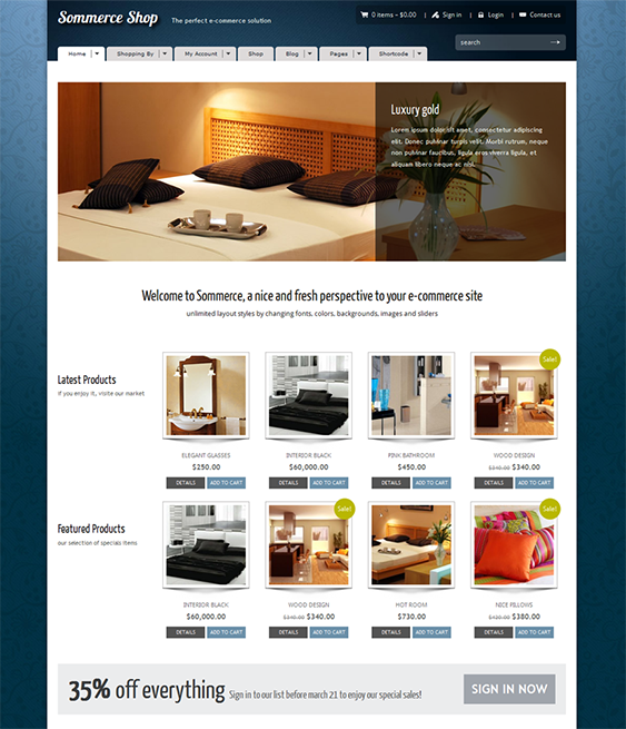This ecommerce WordPress theme is compatible with WooCommerce and ...
