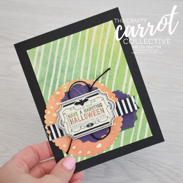 Halloween card using Labels to Love Stamp Set by Stampin' Up!