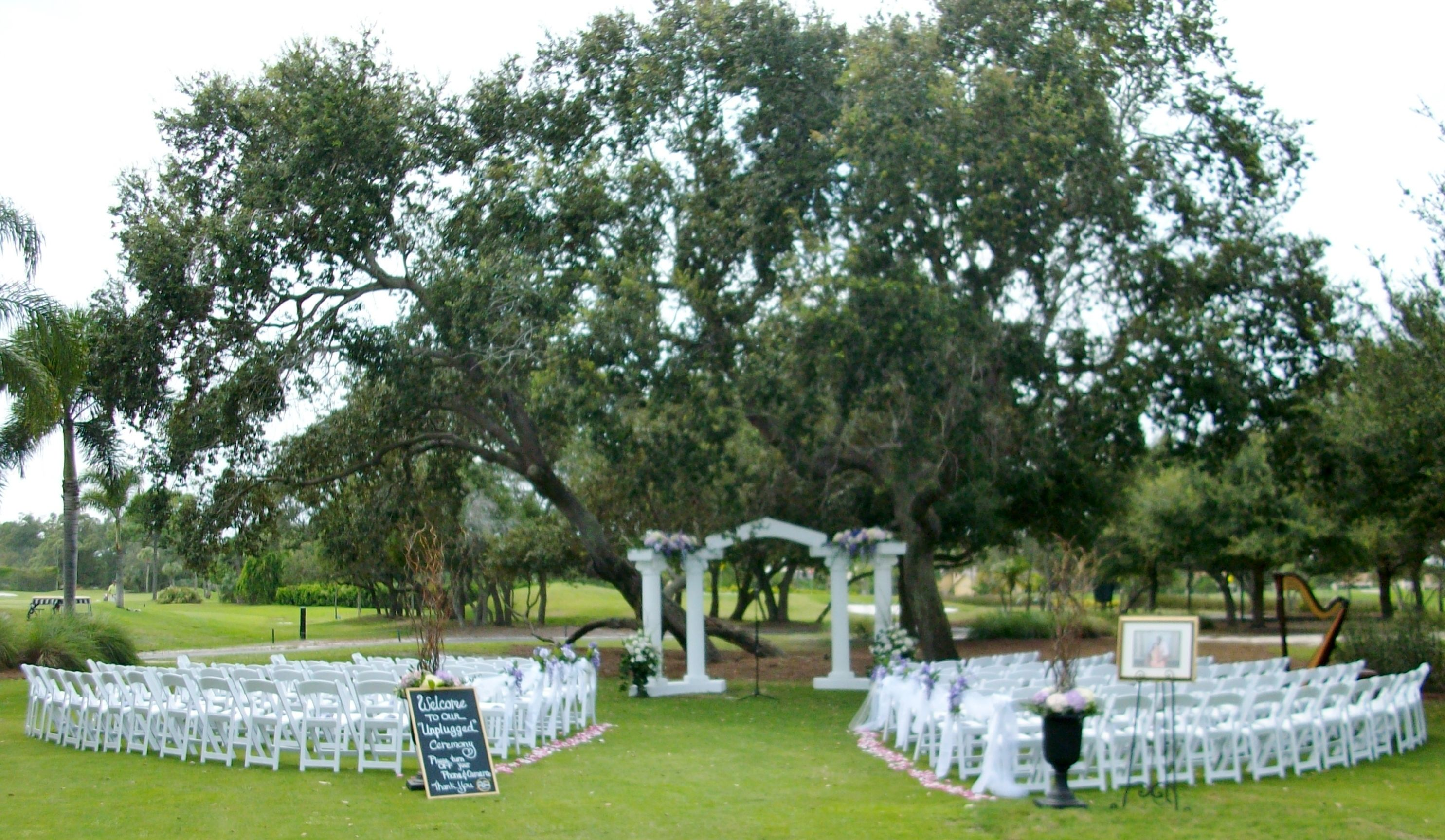 suntree country club in melbourne florida beautiful wedding ceremony location under
