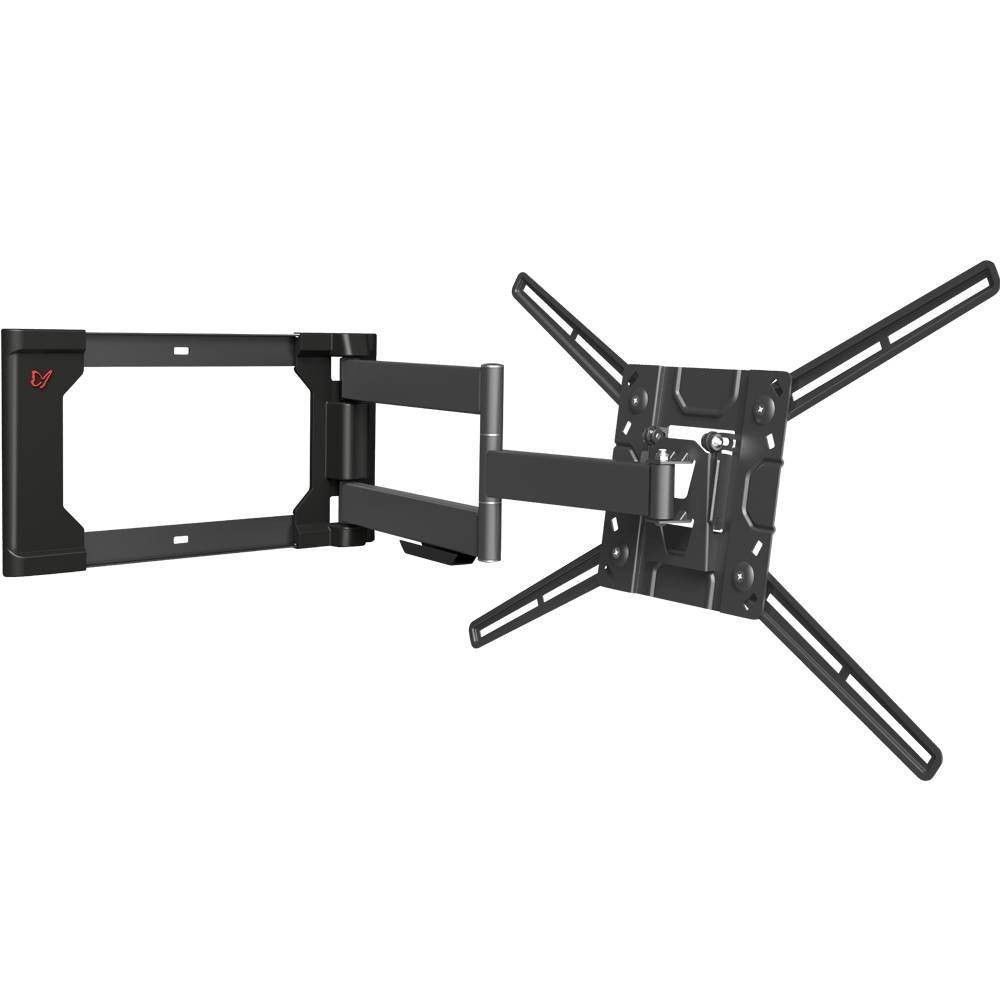 Barkan 13 80 4 Movement Patented To Fit Various Screen Types Flat Curved Tv Wall Mount Black Wall Mounted Tv Curved Tv Wall Mount Full Motion Tv Wall Mount