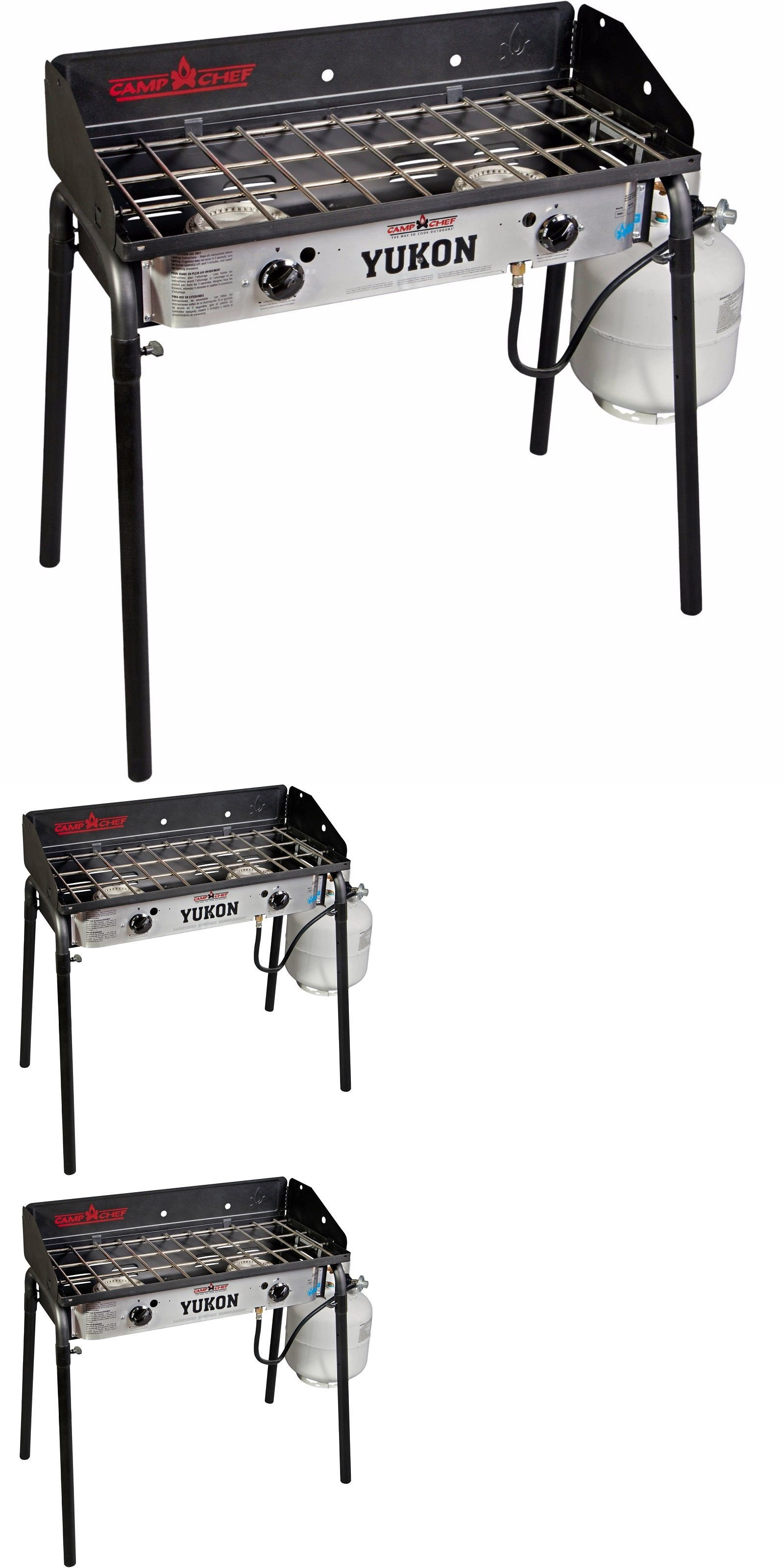 Camping Stoves Two 2 Burner Propane Stove Camp Rv Trail