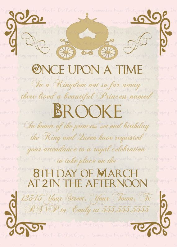 Once Upon a Time Invitation by GiggleBB on Etsy PERFECT