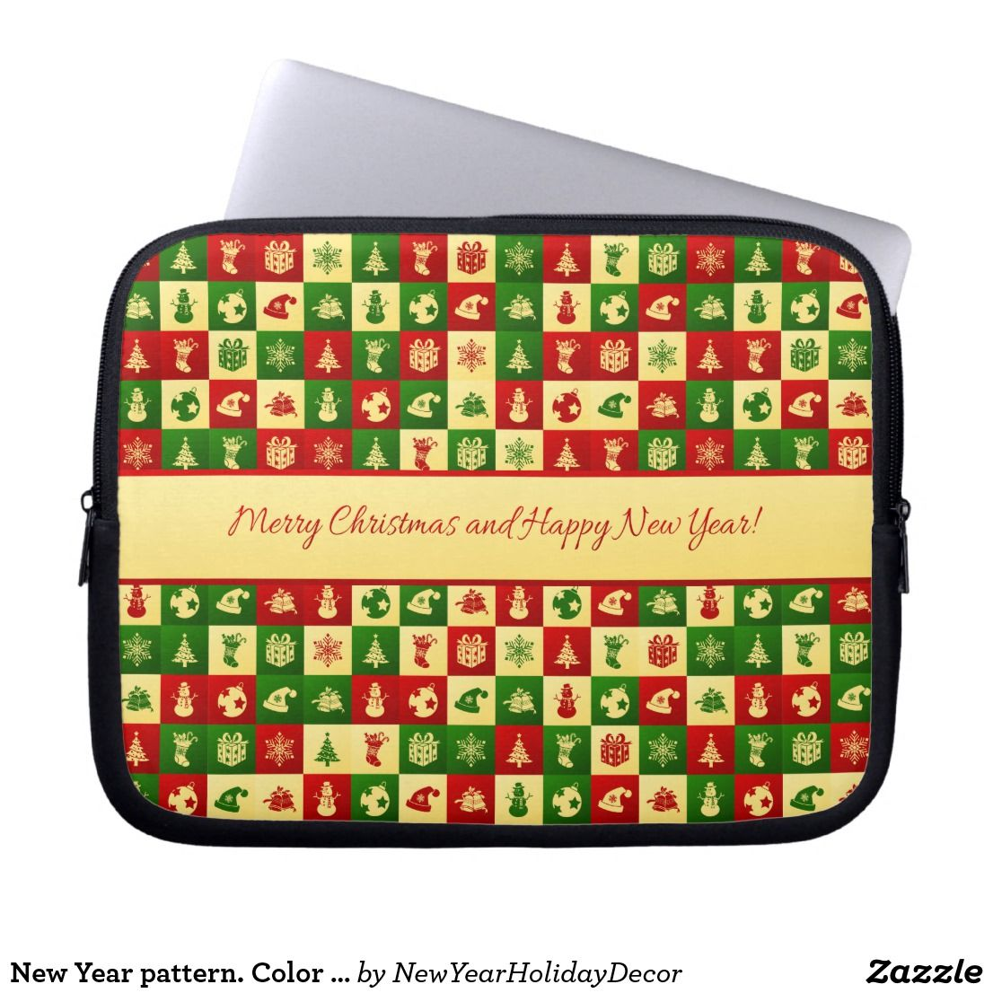 New Year Pattern Color Mosaic 2018 Pattern 2018 Newyear