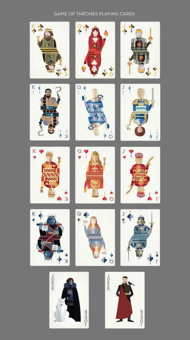 A Standard Deck With GoT Art Cards Inside Game Of Thrones Themed Playing Cards