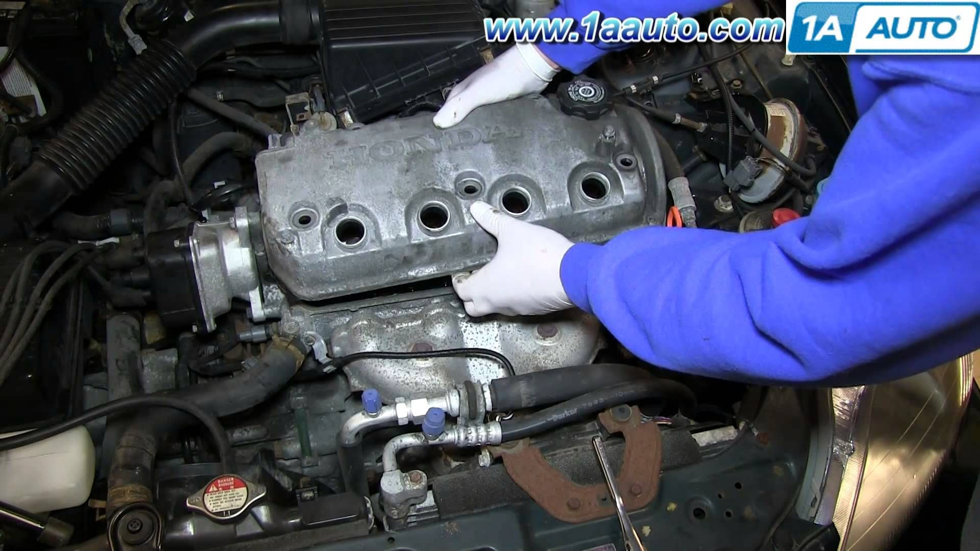 Nice how to replace install leaking valve cover gasket 1 6l sohc 1996 00 honda