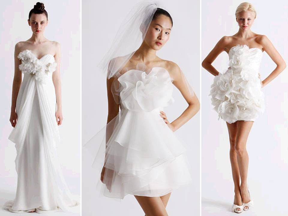 Vera Wang Mini Wedding Dress