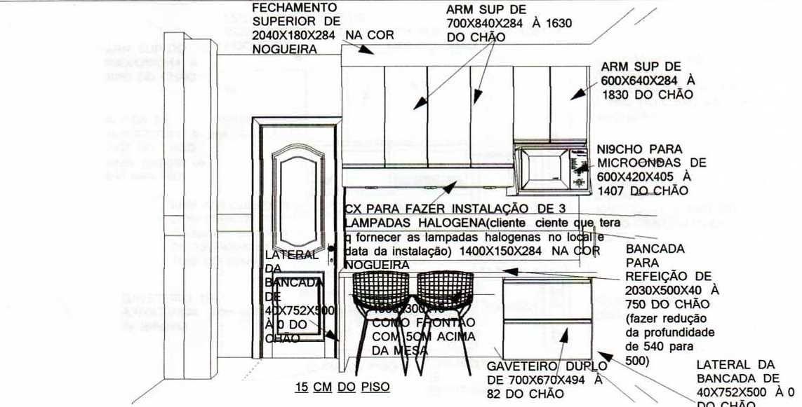 Projeto de cozinha 1143 581 medidas ergonomia for Medidas camas americanas