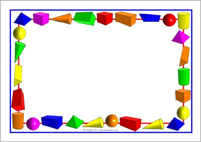 3d Shapes A4 Page Borders Sb6435 3d Shapes Page Borders Shapes