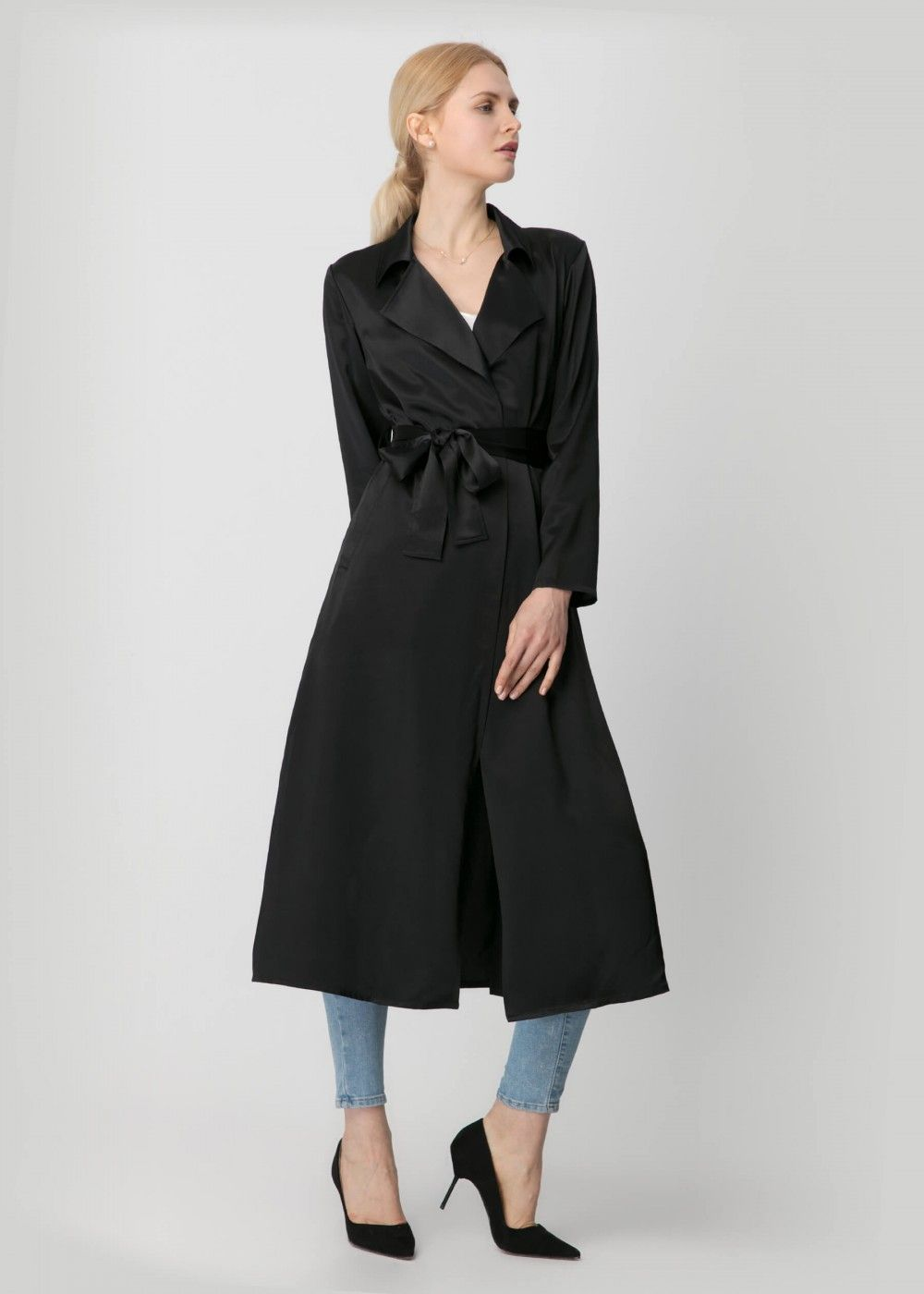 5d26a0af18 Get Confidence In This Silk Trench Coat | Lilysilk | Pinterest ...