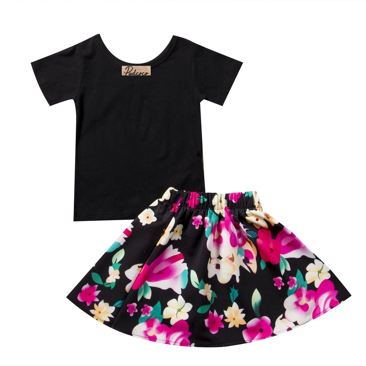 Floral toddler girl skirt set audreyus outfits pinterest skirt