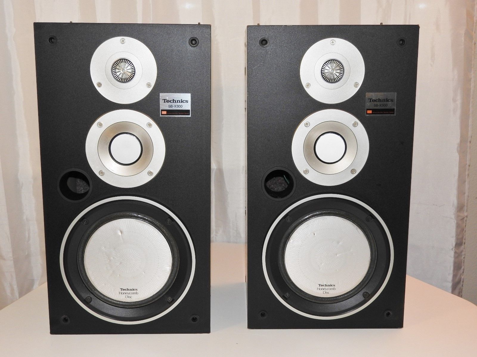 Technics Sb X300 Speakers Honeycomb Disc Pair Of 3 Way Audiophile Super Rare Follow The Link For Once Of A Kind Ultra Vintage Speakers Speaker Usb Speakers