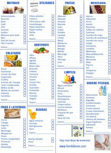title (com imagens) | Lista de compras, Lista de compras