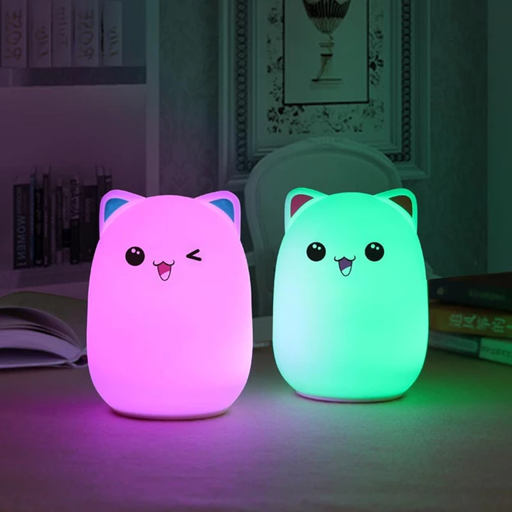 Pin by Jessica on Cute cat in 2020 | Led night lamp, Vintage