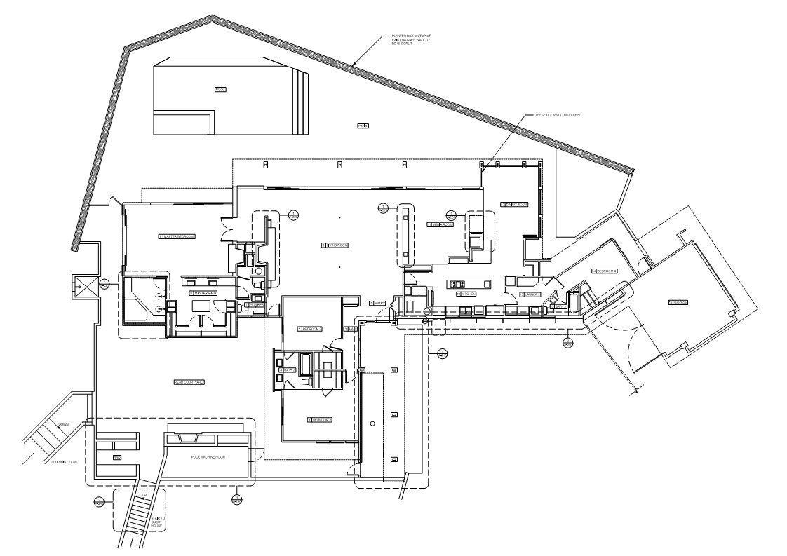 Floor Plan, Renovation of a Hal Levitt Home in Beverly Hills | Floor ...