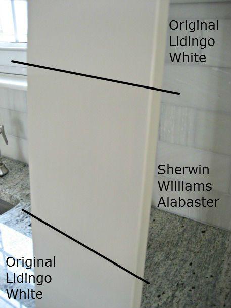 White Paints To Match Ikea Lidingo Cabinets