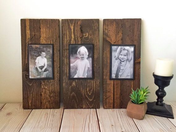 02c664c4e43 Rustic Wood Frame - Picture Frame Set - Rustic Picture Frame Set ...