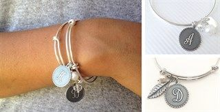 $7.89 - Best Selling Initial Bangles + 2 FREE Dangles! - http://www.pinchingyourpennies.com/7-89-best-selling-initial-bangles-2-free-dangles/ #Initialbangle, #Jane, #Pinchingyourpennies