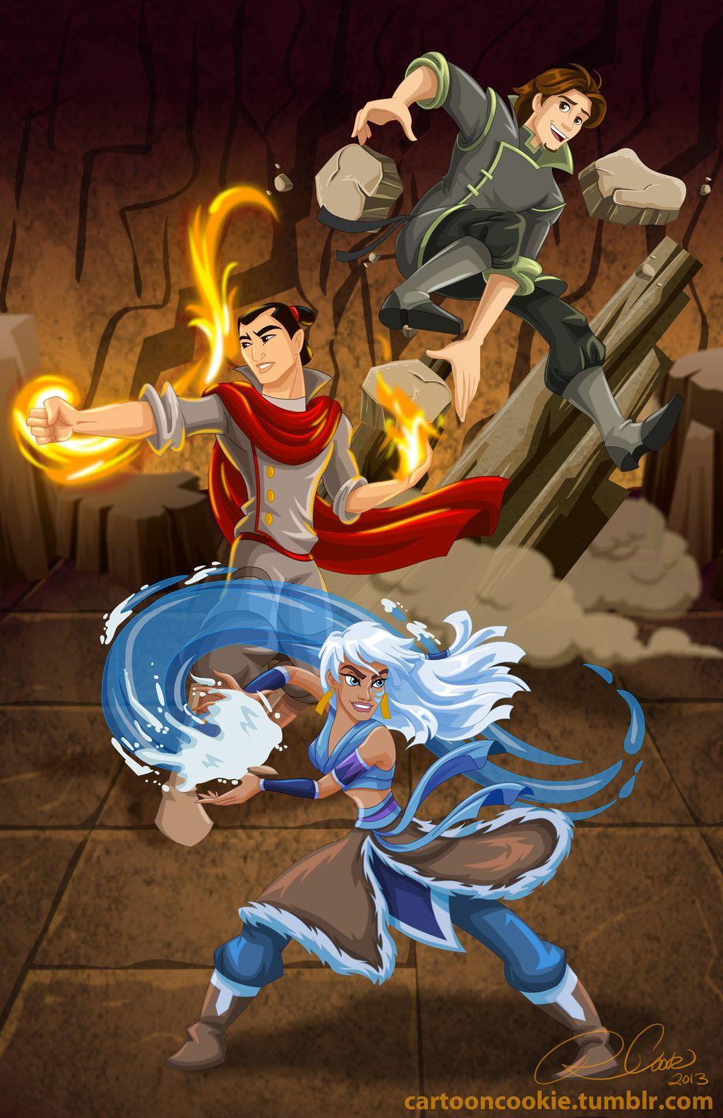 Team Fire Ferrets - Flynn, Shang, Kida by racookie3.deviantart.com on @deviantART