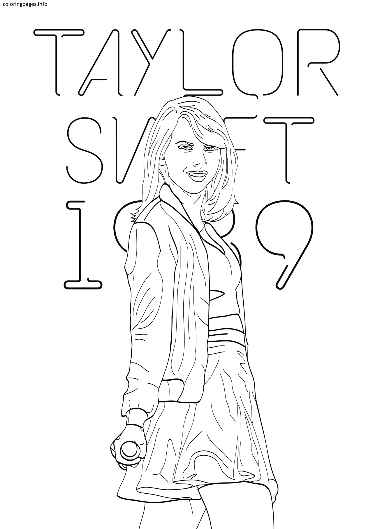 Taylor Swift Coloring Pages 1989 Taylor Swift Coloring Pages 1989 Coloringpage Hello Kitty Colouring Pages Unique Coloring Pages Coloring Pages Inspirational