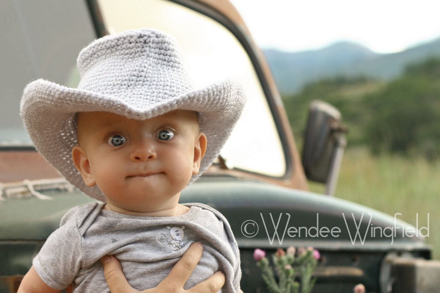 CROCHET PATTERN - Cowboy or Cowgirl Hat Crochet 0-6 month PATTERN ...