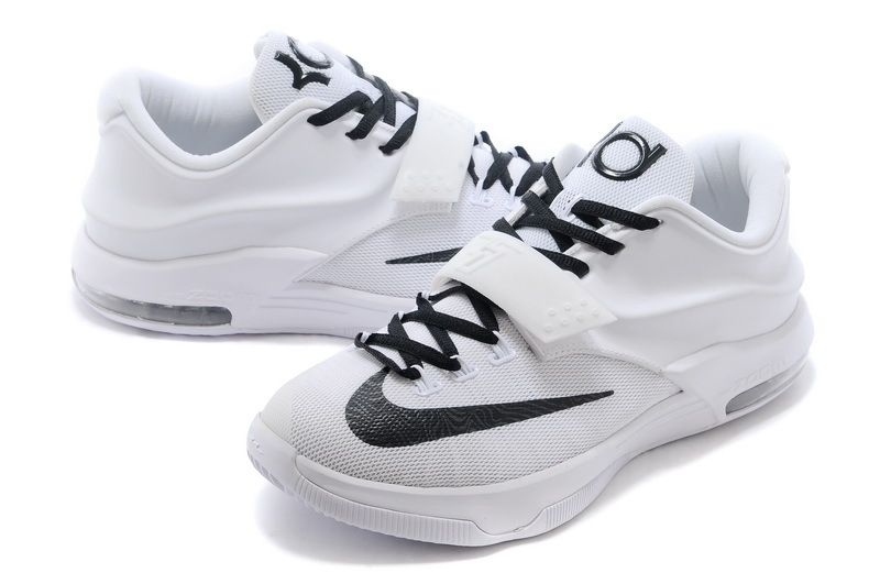 official photos 9dc4c e03fd Nike KD 7 Customs   Cheap Nike KD 7 VII Custom All White Black For Sale  Online-2
