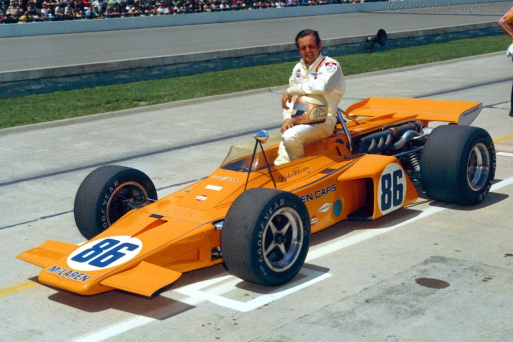 Peter Revson Indy 1971 McLaren M16 Racing Pinterest