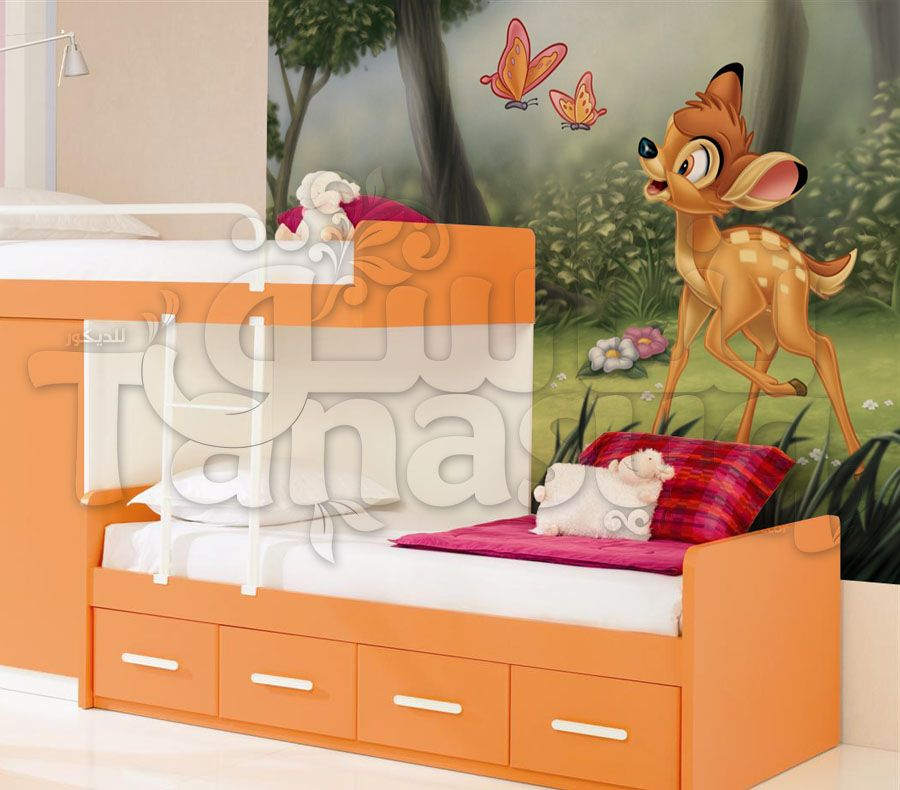 Disney Bambi 3d Wallpaper For Kids ورق حائط ديزني بامبي ثلاثي الأبعاد للأطفال Storage Storage Chest Decor