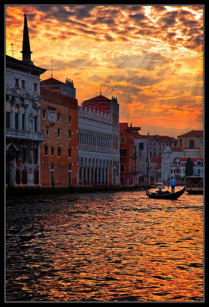 Sunset over Grand Canal, Venice ~ Breathtaking!