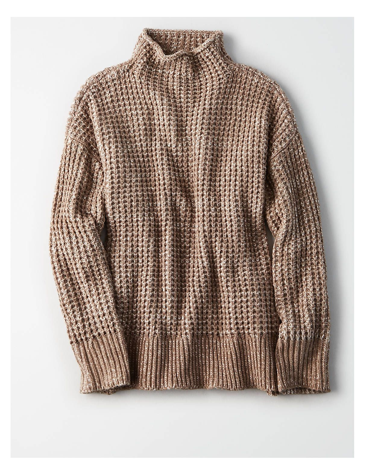 6f1a200fd4 AE Slouchy Mock Neck Pullover Sweater in 2018
