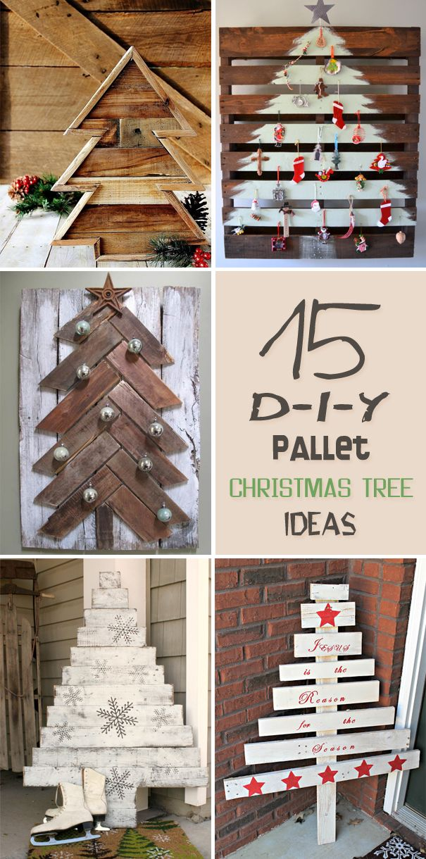 some great ideas of how to make your own pallet christmas tree