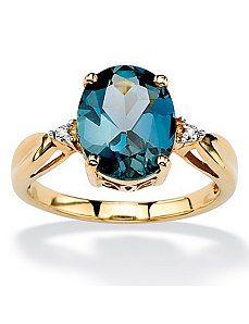 London Blue Topaz Ring by PalmBeach Jewelry