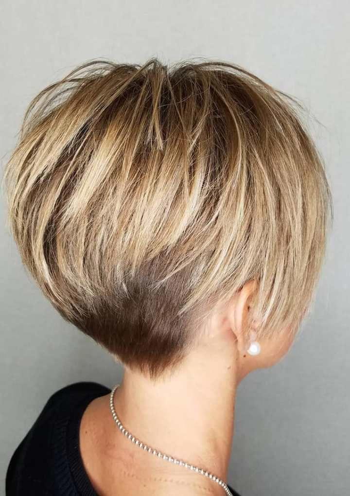 Beste 55 Bilder von kurzen glatten blonden Haaren #haare #haarschnitt #frisuren #trendfrisure…