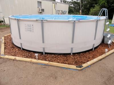 Edging around an above ground pool google search pool for Pool garden edging