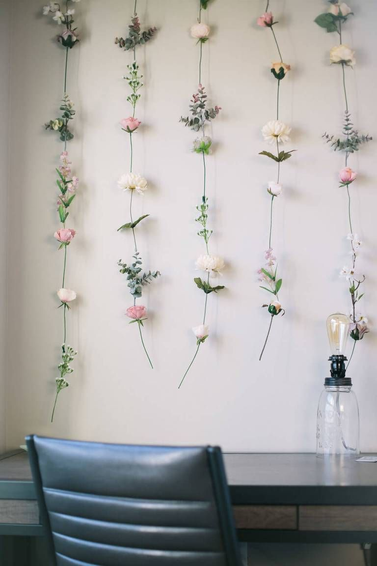 DIY Flower Wall | Diy flower wall, Aesthetic bedroom ...