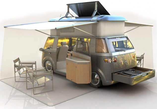 Caravana moderna vw busjes pinterest curtidas for Interiores de caravanas reformadas
