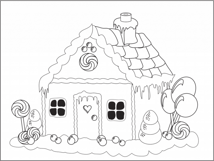 gingerbread house coloring pages  weihnachtsmalvorlagen